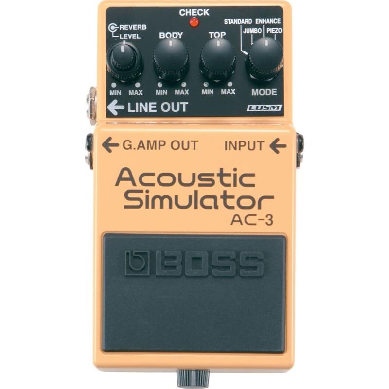 musik-lageret-viborg-BOSS AC-3 Acoustic Simulator Pedal Akustisk Guitar Simulator Effektpedal Musiklageret Viborg