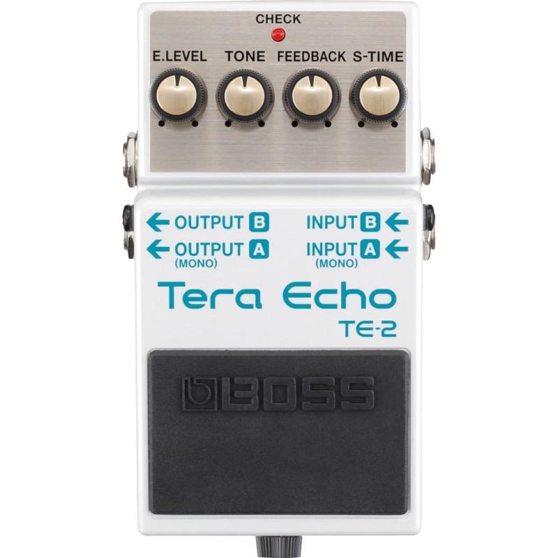 musik-lageret-viborg-BOSS TE-2 Tera Echo Pedal Echo Effekt Ambience Effekt Effektpedal Musiklageret Viborg