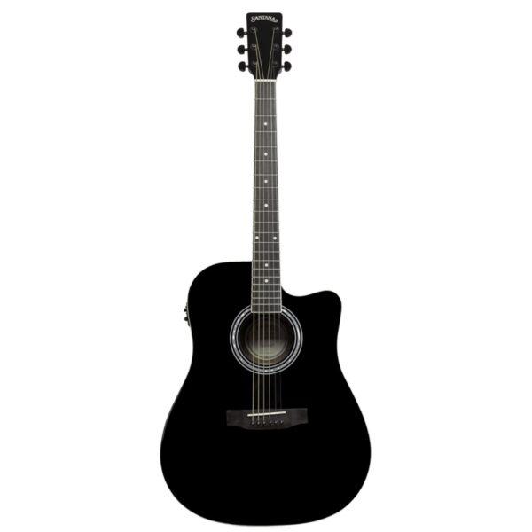 musik-lageret-viborg-Santana LA-100 EQCW v2 BK Western Guitar Elektrisk Akustisk Guitar Begynderguitar Stålstrenge Musiklageret Viborgpng