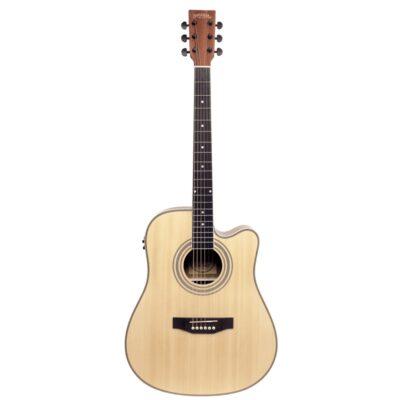 musik-lageret-viborg-Santana LA-100 EQCW-v2 NA Western Guitar Elektrisk Akustisk Guitar Begynderguitar Stålstrenge Musiklageret Viborg