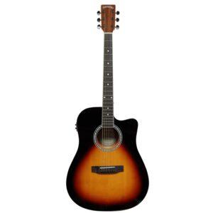 musik-lageret-viborg-Santana LA-100 EQCW v2 SB Western Guitar Elektrisk Akustisk Guitar Stålstrenge Musiklageret Viborgpng