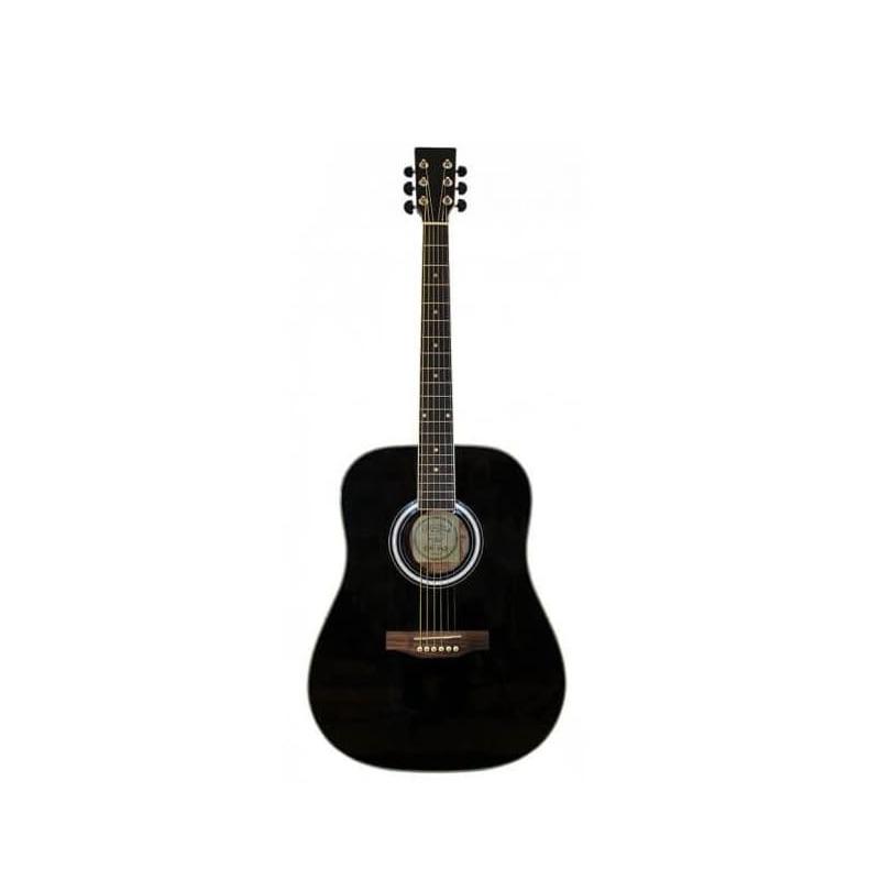 musik-lageret-viborg-Santana LA90-BK Western Guitar Akustisk Guitar Begynderguitar Stålstrenge Musiklageret Viborg
