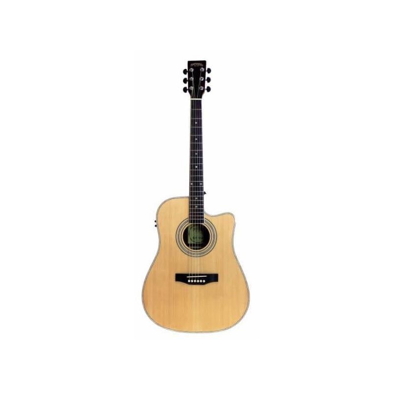 musik-lageret-viborg-Santana LA90-NA CWEQ Western Guitar Elektrisk Akustisk Guitar Begynderguitar Stålstrenge Musiklageret Viborgjpeg