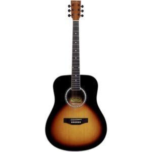 musik-lageret-viborg-Santana LA90-v2 SB Western Guitar Akustisk Guitar Begynderguitar Stålstrenge Musiklageret Viborgpng