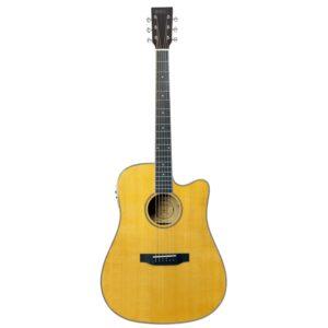 musik-lageret-viborg-Santana ST-300M Western Guitar Elektrisk Akustisk Guitar Fishman Pickup Stålstrenge Musiklageret Viborg