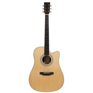 musik-lageret-viborg-Santana ST-300W Western Guitar Elektrisk Akustisk Guitar Fishman Pickup Stålstrenge Musiklageret Viborg
