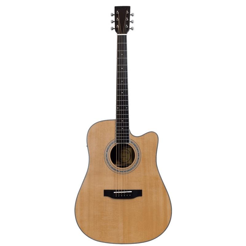 musik-lageret-viborg-Santana ST-300WS Western Guitar Elektrisk Akustisk Guitar Fishman Pickup Stålstrenge Musiklageret Viborg