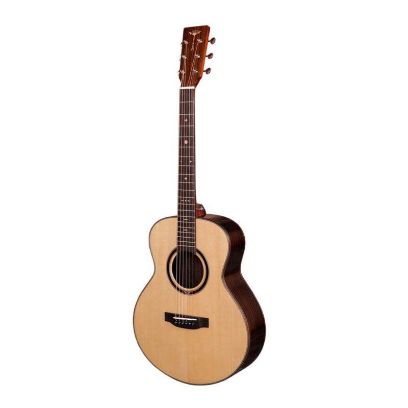 Tyma M-20SE Western Guitar Mini Jumbo Akustisk Guitar-Musiklageret Viborg