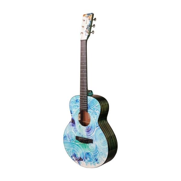 Tyma-V-3E Mini Spindrift Western Guitar Rejseguitar-Musiklageret Viborg